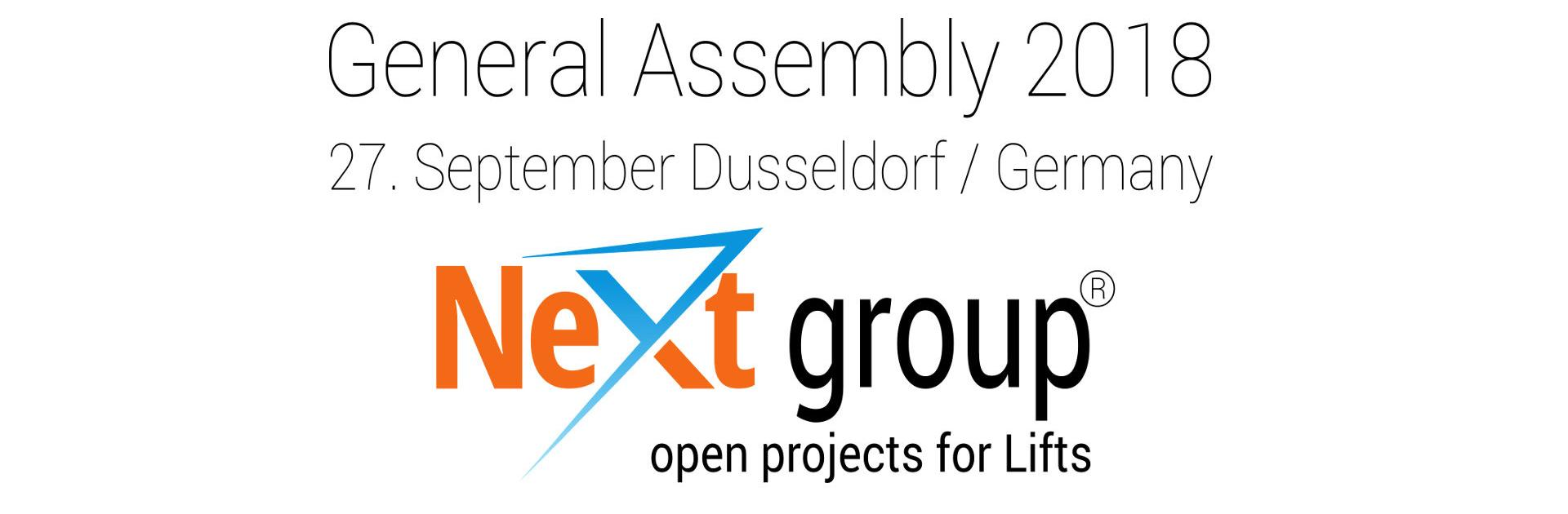 NeXt group General Assembly 2018