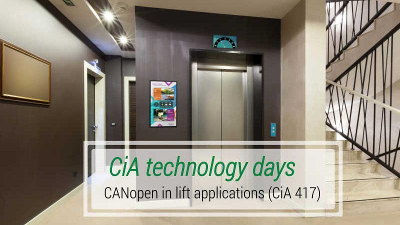 CiA technology days - CANopen in lift applications