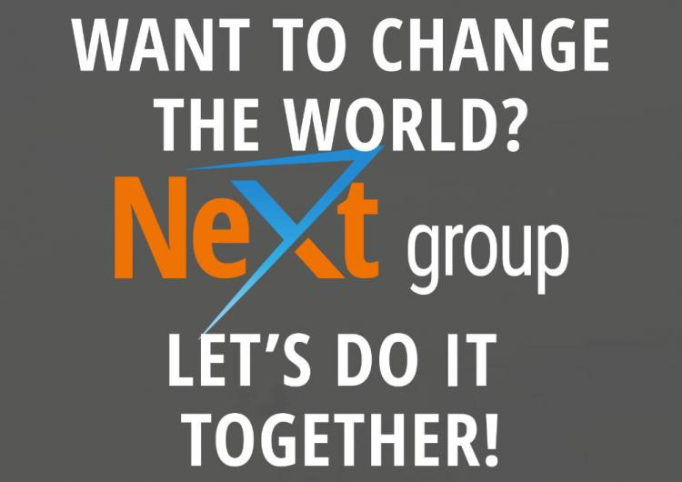 NeXt group - Want to change the World?